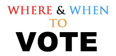 Where and when to vote